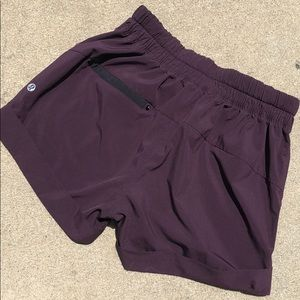 Lululemon purple plum shorts 4